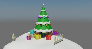 3D chrismas tree model