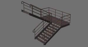 3D stair 1c model