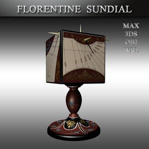 florentine sundial 3D model