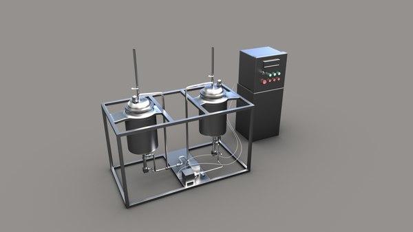 3D pasteurization milk model