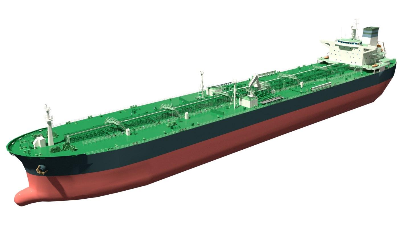 aframax class oil tanker model