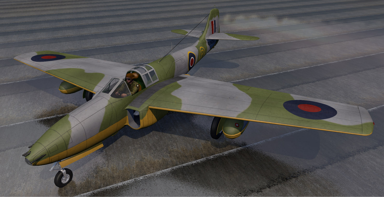 3D plane bell p-59a airacomet
