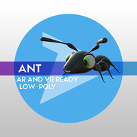 Ant LOW-POLY RIGGED AR AND VR READY