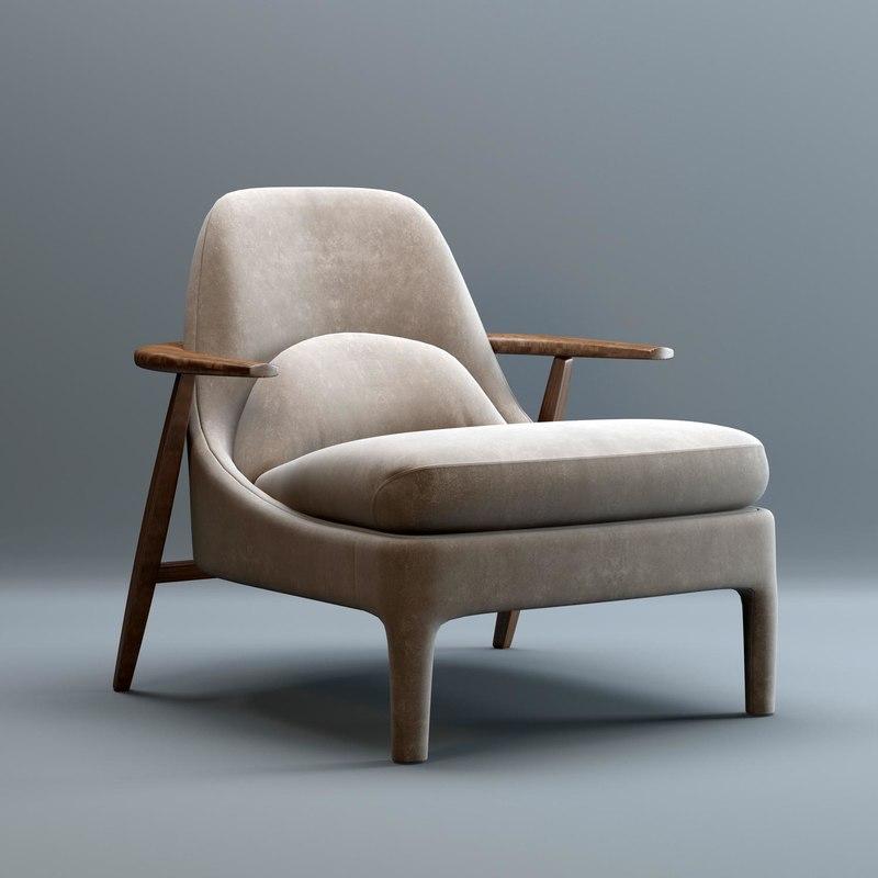 brigitte-lounge-chair 3D model