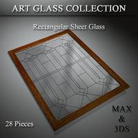 3D art glass door