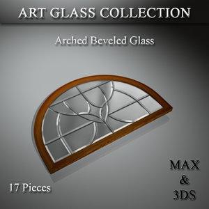 art glass set 3D model