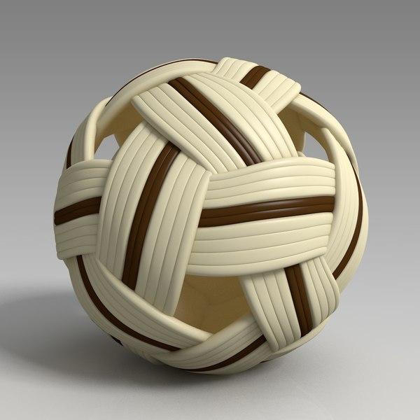 3D sepak takraw ball model