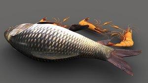 3D seafood sea food