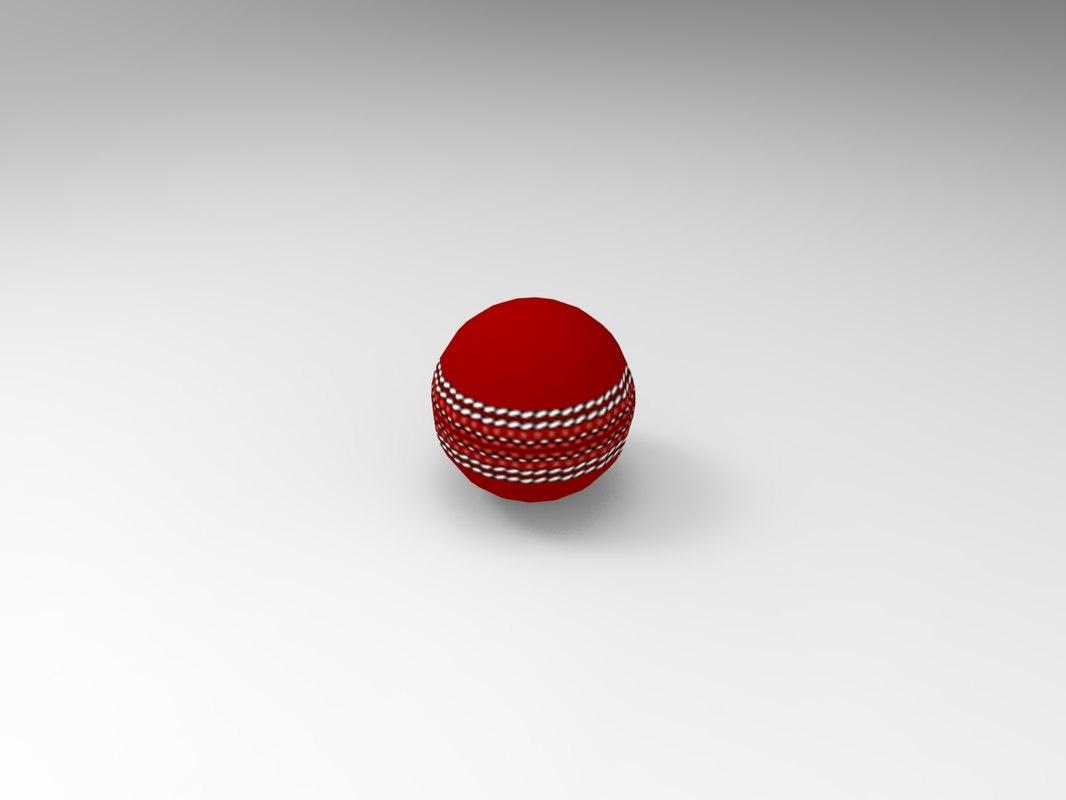 cricket ball 3D model
