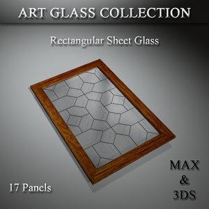 3D art glass set
