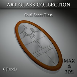art glass set model