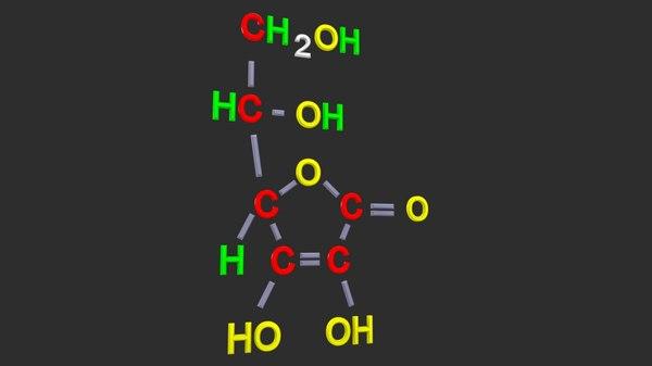 3D ascorbic acid model