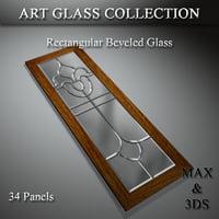 art glass set 3D