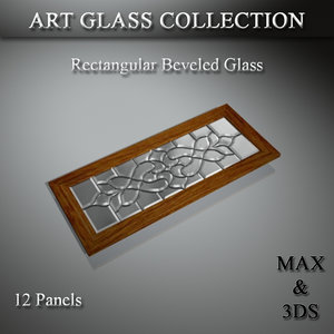 3D art glass set model