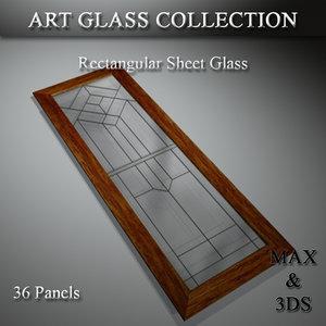 3D model art glass set