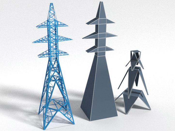 mast power lines model