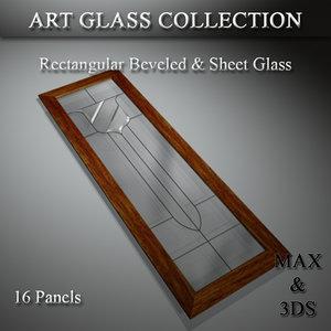 3D art glass set 10