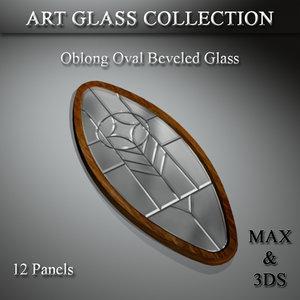 3D art glass set 11 model