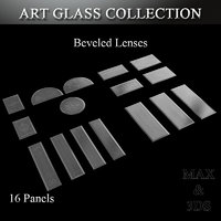 3D model art glass set 13
