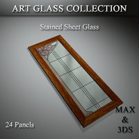 art glass set 14 3D model