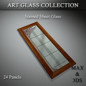art glass set 14 3D model