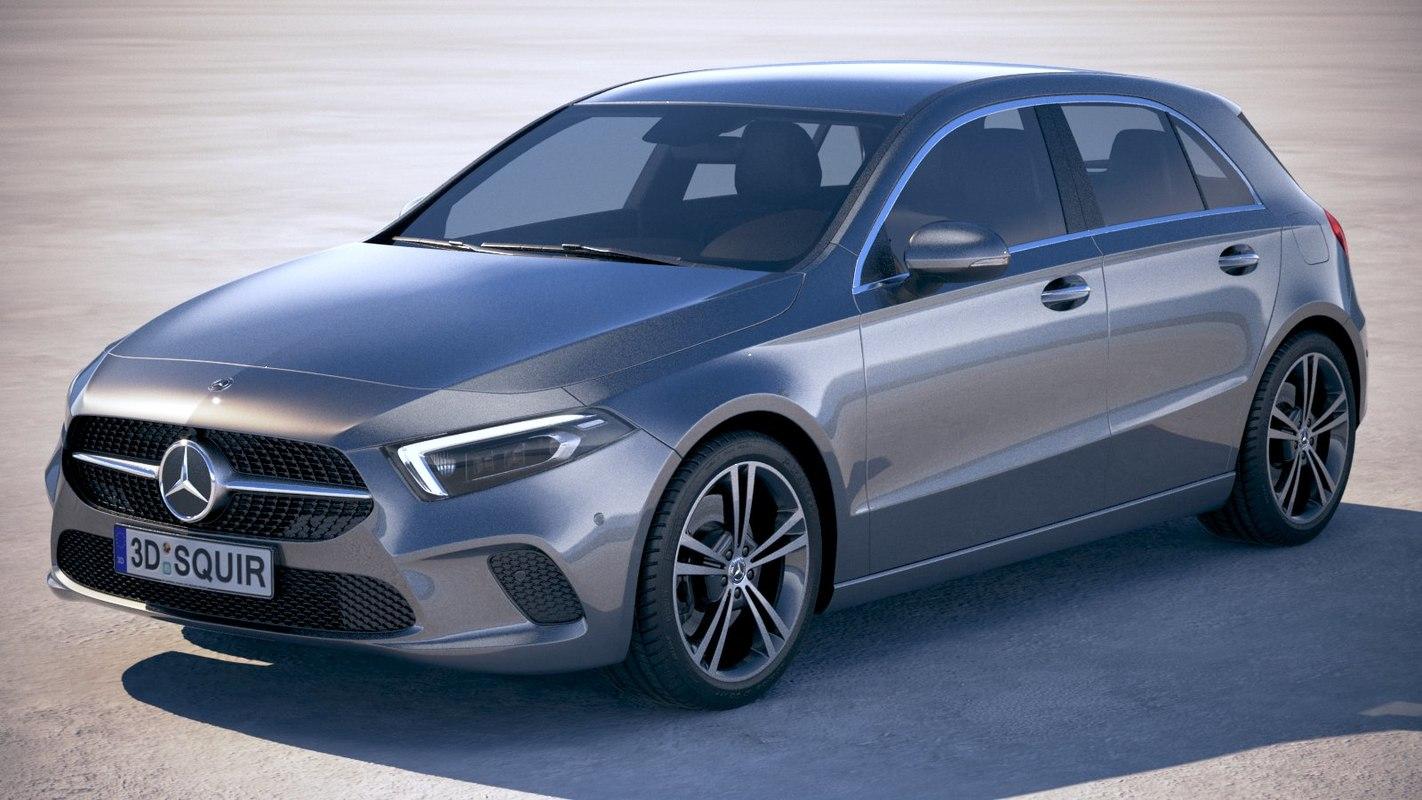 3D mercedes a-class 2019 model