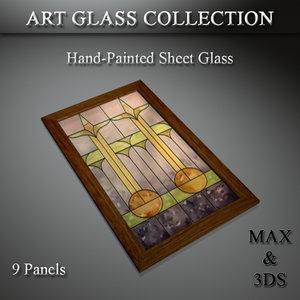 3D model art glass set 16