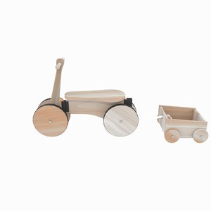 3D toy wooden bicycle