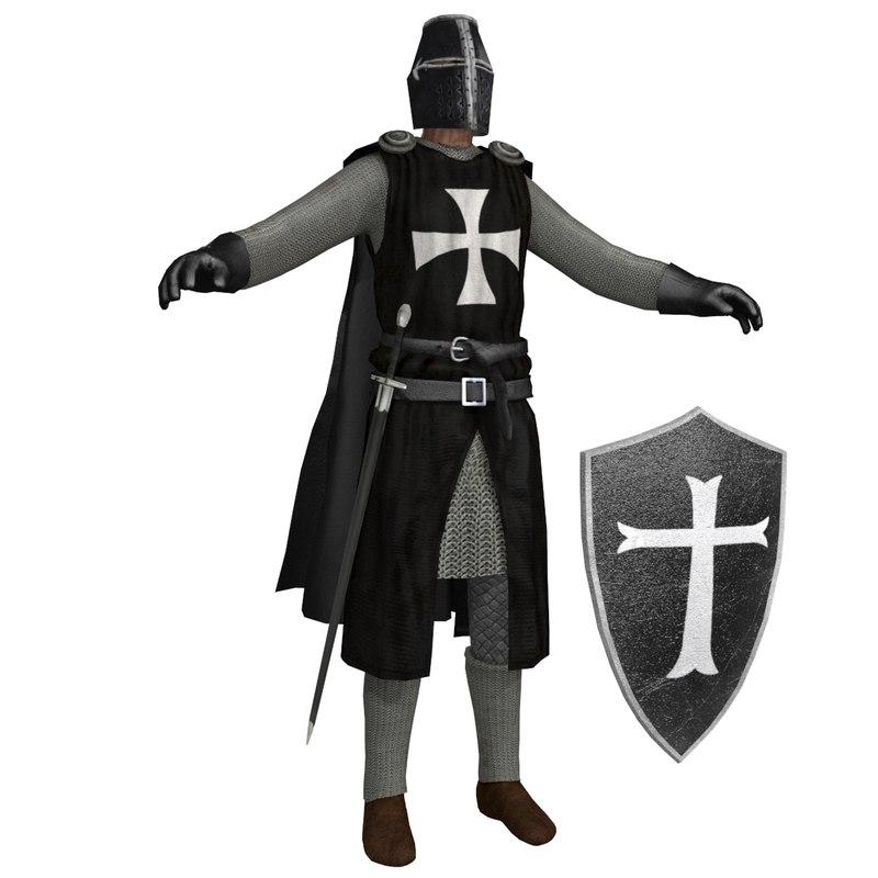 3D crusader knight