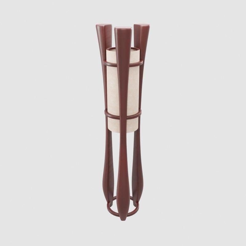 Modern Wooden Floor Lamp Interior 3d Model Turbosquid 1261601