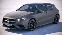 3D model mercedes a-class 2019