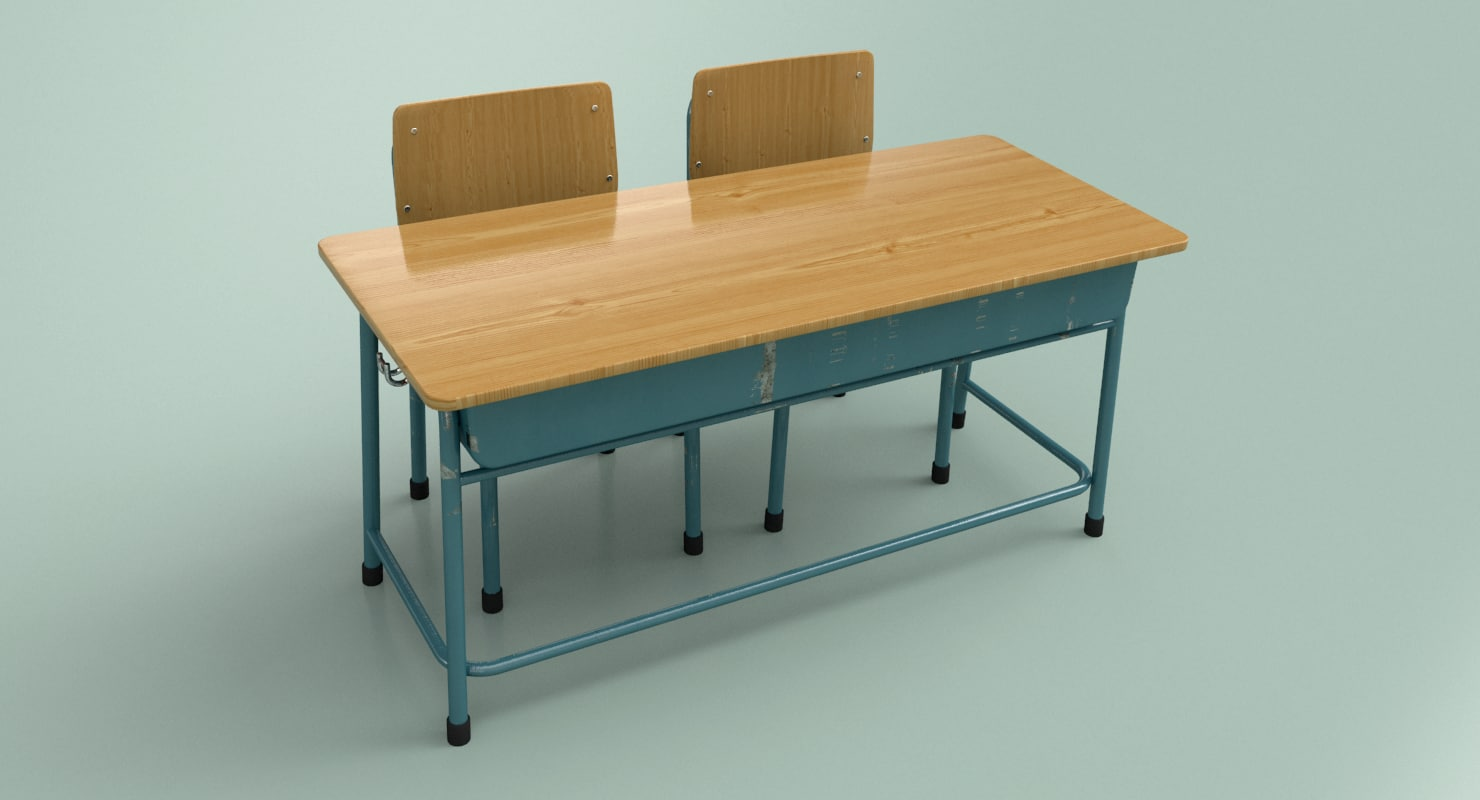 student double desk chairs model