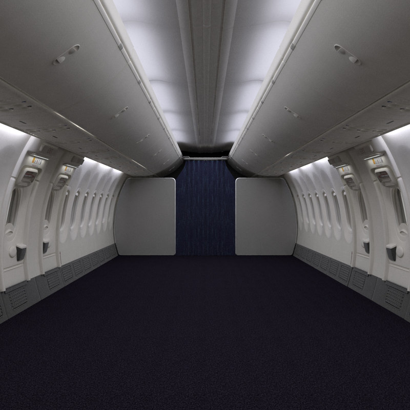 3D ryanair economy interior section