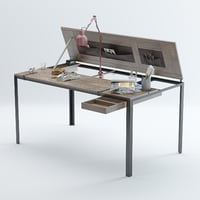 convertible-indoor-desk-table-by-manotec 3D model