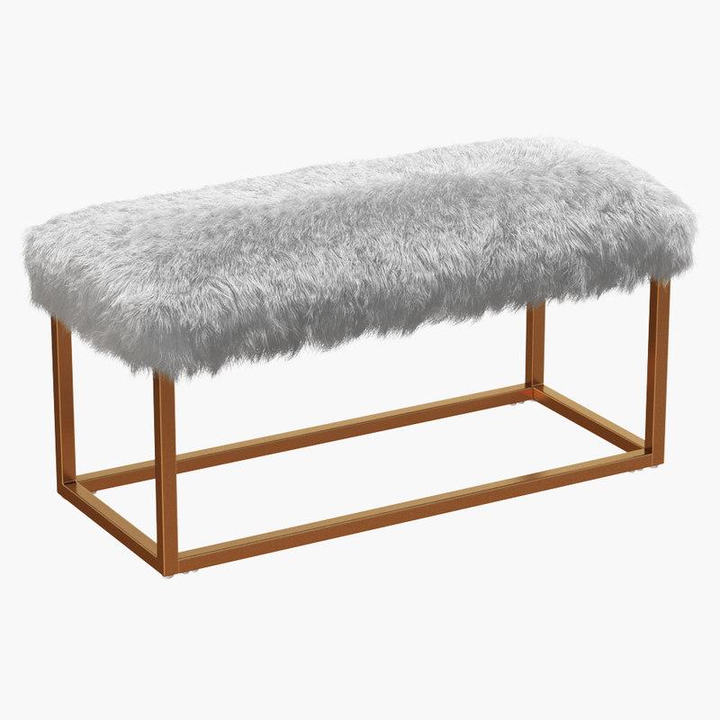 wool bostrom upholstered bench model