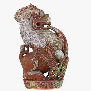 dragon statue 3D model