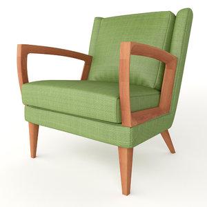 3D goodwood lounge chair model