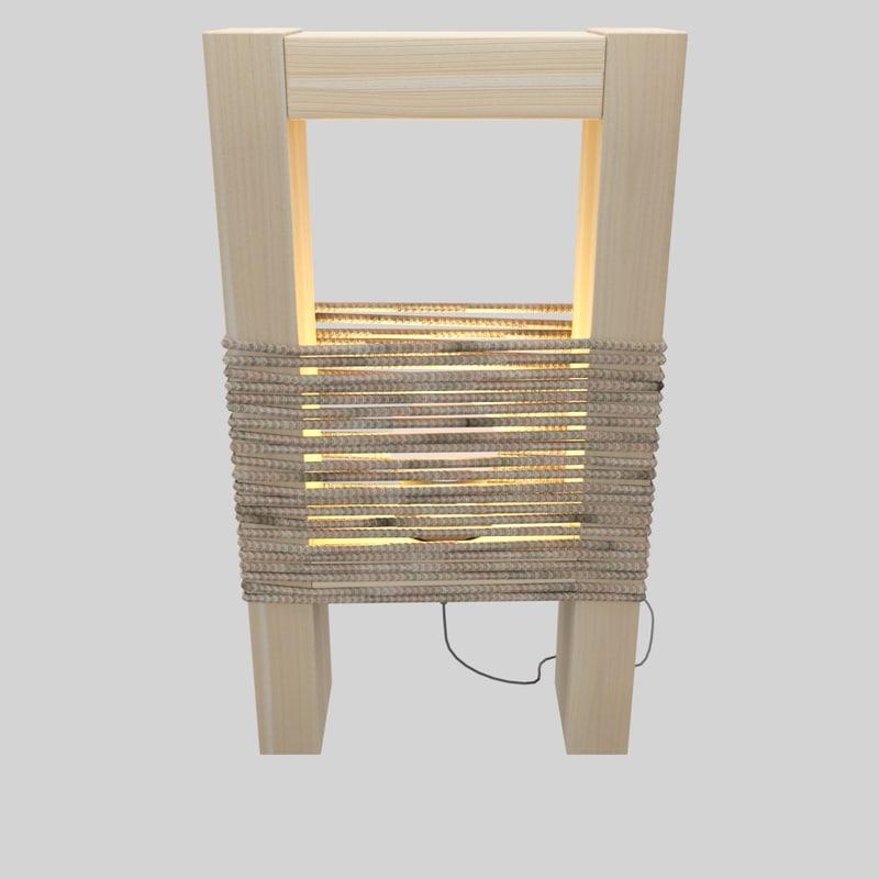 wooden modern lamp model