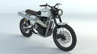 3D motorcycle motor tramontana