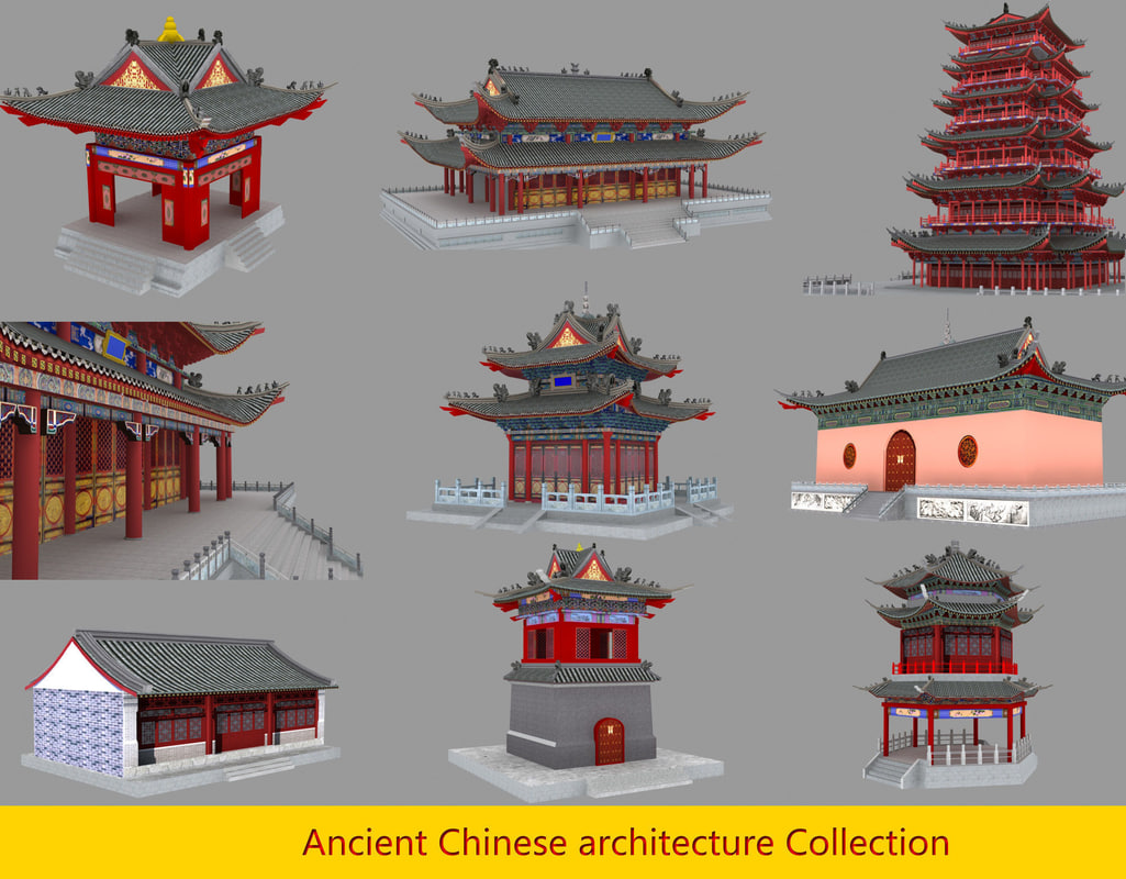 3D ancient chinese buildings