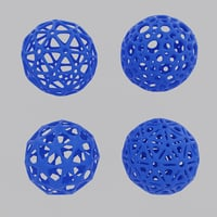 Balls for 3d printing.