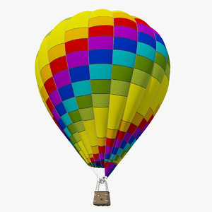 3D realistic air balloon model