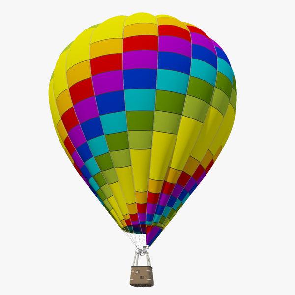 3D realistic air balloon model