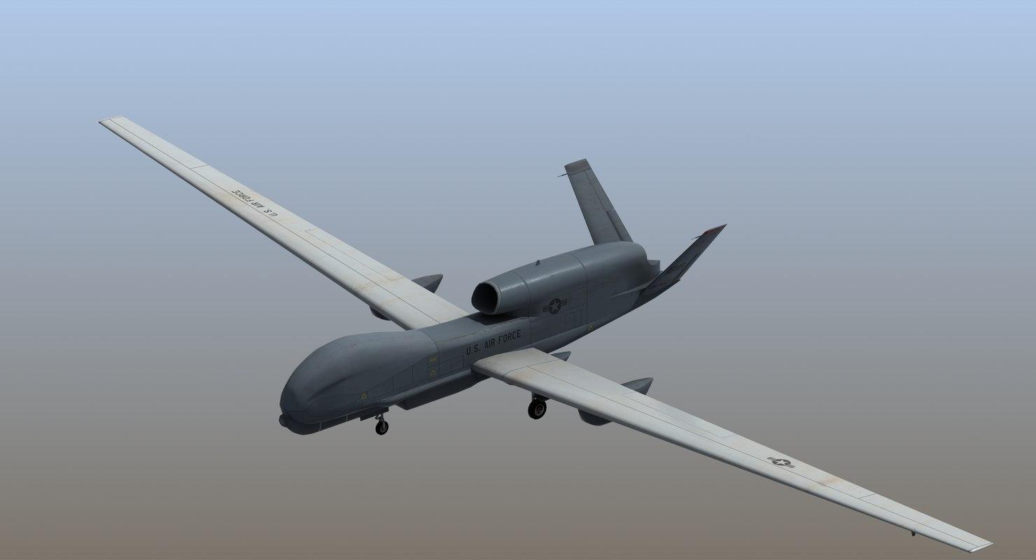 rq-4b global hawk uav drone 3D model