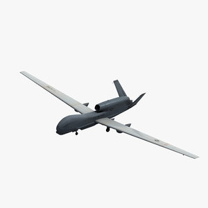 rq-4b global hawk uav drone 3D model