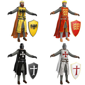 3D pack crusaders knight helmet