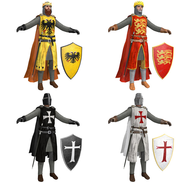 3D pack crusaders knight helmet