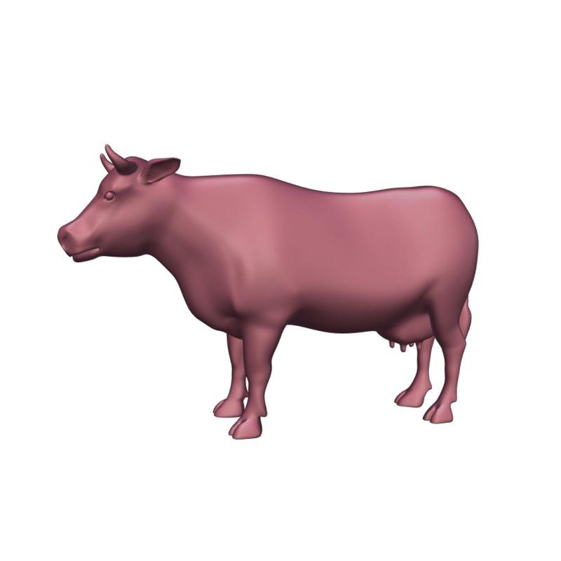 cow blender 3D model