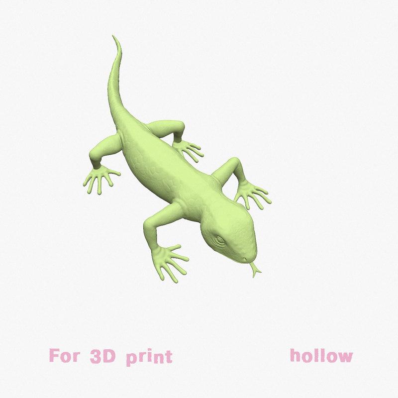 3D lizard model