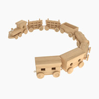 Toy of Wooden Locomotive